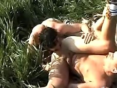 Twinks mouth to mouth and very on grass