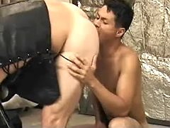 Asian gay slut number one sucks off then benefits from hammered