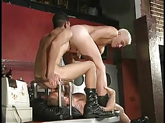 Hairy gay stripper keen to to gain rimmed in 2 episode