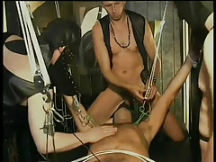 Gay leather and bondage fuck fest in 4 episode