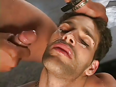 Horny guys gangbanging stud in appealing group sex in 7 episode
