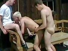 Handsome gays in anal act