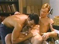 Gay clerks do moist anal in office