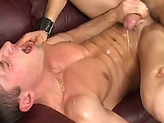 Gay takes his first giant cock