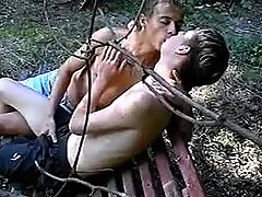 Men secluded in park to enjoy oral
