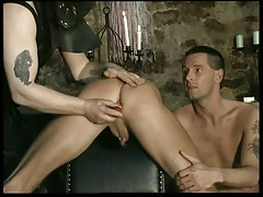 Fetish leather twinks in dungeon in 1 episode