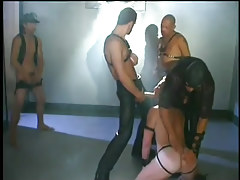 Gay dungeon sex scene with leather in 2 motion picture