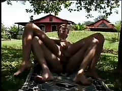 A sultan sucks his slaves cocks in 3 motion picture