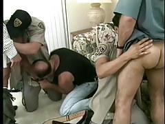 Hot gay policemen uniform porn massive fuckfest in 6 episode