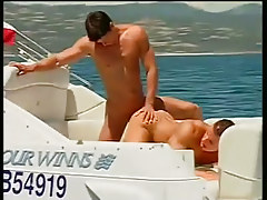 Two guys fucking and sucking on a boat in 3 movie
