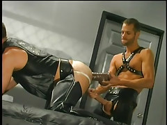 Leather  men having gay sex in 3 episode