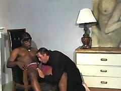 Pretty black male takes it anally