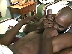 Appealing black gay gets filled heavily