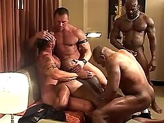 Five placid fruits suck cocks and fuck in orgy
