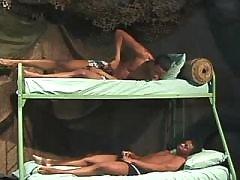 Black schlong penetrates tight waste