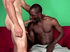 Studly black receives deep ass massage