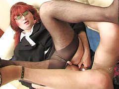 Redhead sissy guy with his gay co-worker getting the just about all from dildotoying