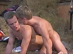 Teeny gay drills friend behind