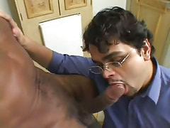 Bear gay deep throats darksome cock