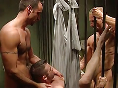 Horny prisoners share non-professional chap