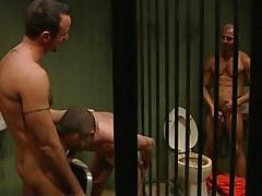 Nasty prisoners greedily suck cocks