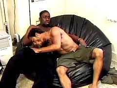Harsh black gays doing mad anal