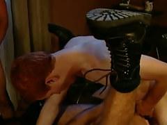 Redhead twink fucks horny dilf