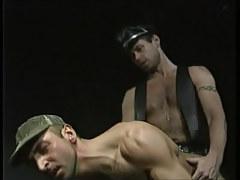 Horny bear man has intercourse dilf in doggy style