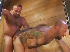 Old hairy gay fucks tight males anus