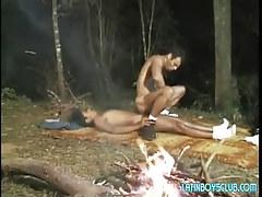 Horny teeny latin gays fuck by bonfire