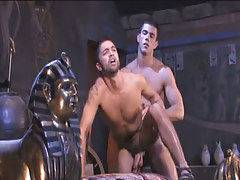 Muscle Arabian homosexual guys hard fuck in doggy style