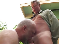Oldest gay sucks hard cock of boyfriend