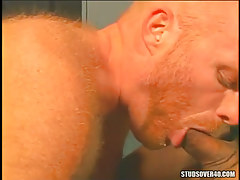 Redhead hairy gay gorges appetizing rod
