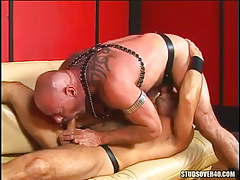 Mature hairy gays suck cocks in 69 pose