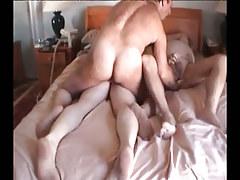 Heavy full-grown gays fuck in group