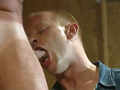 Hot gay guy boy throats appetizing cock