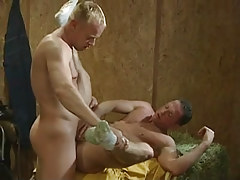 Blond gay hard bonks boyfriend