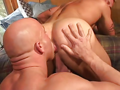 Mature gay licks tight guys hole