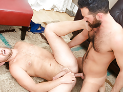 Rich's aching cock gets some of Lucas' tight unshaved apple bottoms
