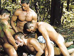 4 Deputies Are Initiating Logan's Tight Mouth And Round Ass.