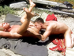 Gentleman moaning with pleasure as he gets his ass rammed by cock!