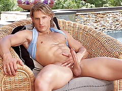Anthony enjoys playing with his butt and cock in solo scene!
